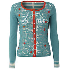 Buy White Stuff Melanitta Crochet Cardigan, Light Jewelled Jade Online at johnlewis.com