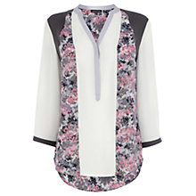 Buy Warehouse Printed Panel Blouse, Multi Online at johnlewis.com