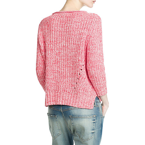 Buy Mango Openwork Jumper, Medium Red Online at johnlewis.com