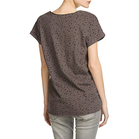 Buy Mango Printed Cotton T-Shirt, Dark Grey Online at johnlewis.com