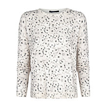 Buy Mango Floral Print Jumper, Medium Grey Online at johnlewis.com