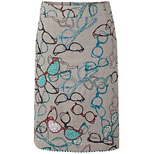 Buy White Stuff Embroidered Specs Skirt, Drizzle Grey Online at johnlewis.com