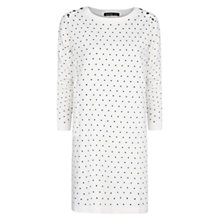 Buy Mango Polka Dot Dress, Natural White Online at johnlewis.com