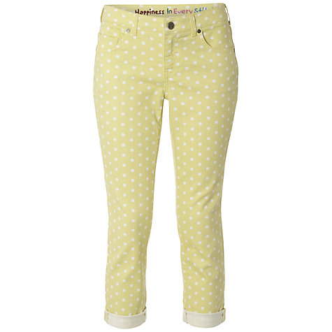 Buy White Stuff Ocean Spot Crop Jeans, Sherbet Lemon Online at johnlewis.com