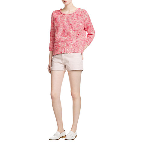 Buy Mango Denim Shorts, Medium Pink Online at johnlewis.com