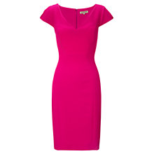 Buy Jigsaw Textured Stretch Dress, Pink Online at johnlewis.com