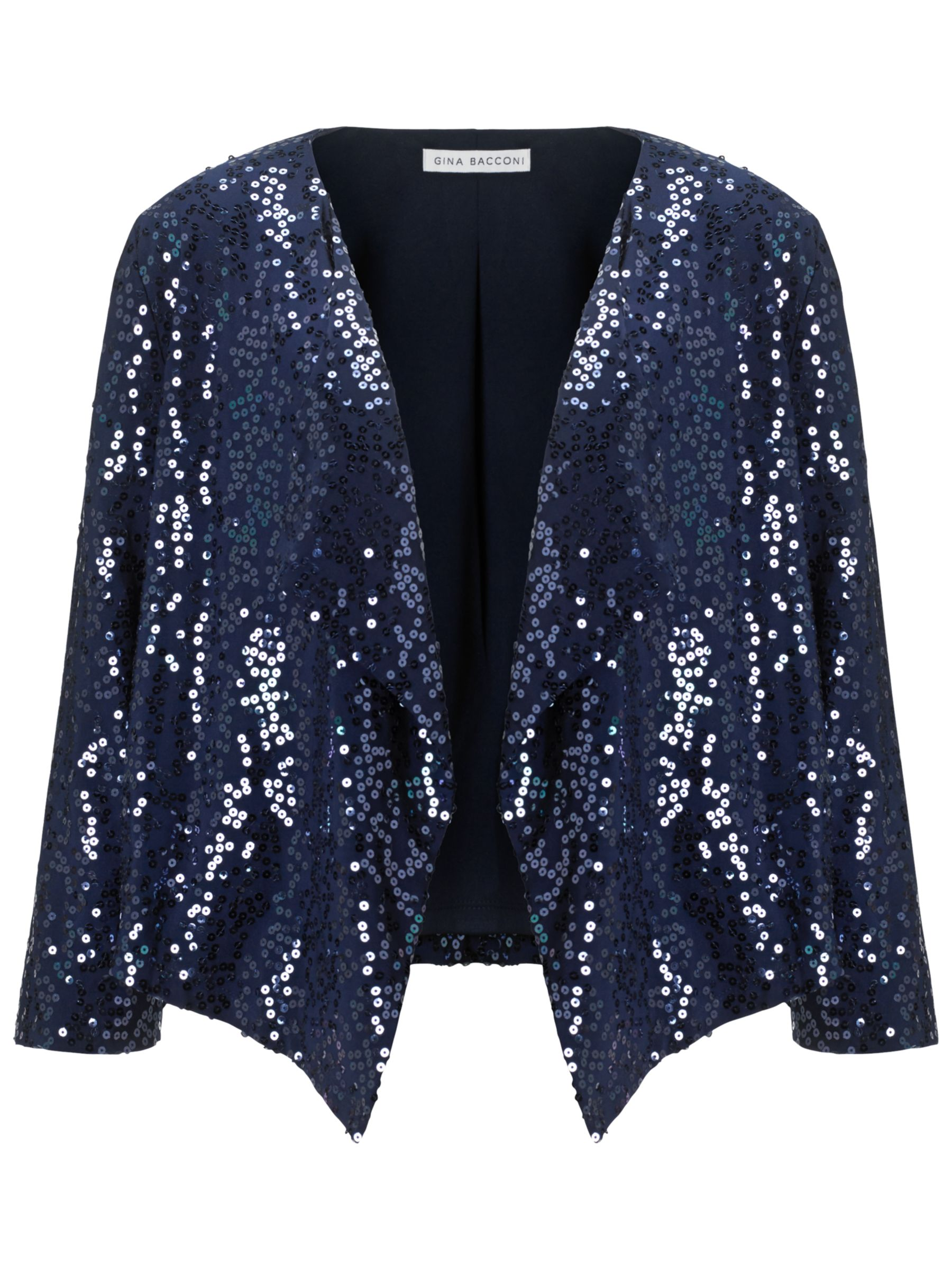 Gina Bacconi Sequined Jacket, Spring Navy