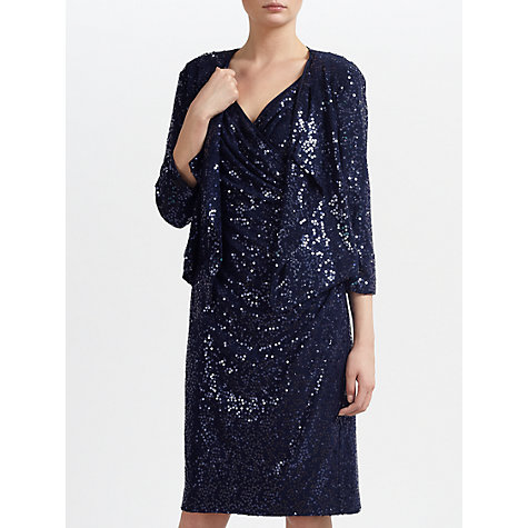 Buy Gina Bacconi Sequined Jacket, Spring Navy Online at johnlewis.com