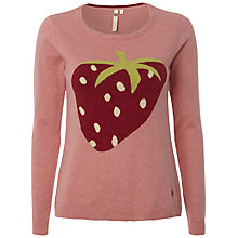 Buy White Stuff Strawberry Motif Jumper, Mid Strawberry Milk Online at johnlewis.com