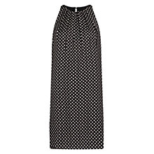 Buy Mango Bi-Colour Print Dress, Black Online at johnlewis.com