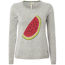 Buy White Stuff Watermelon Jumper, Drizzle Grey Online at johnlewis.com