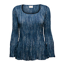Buy East Yoko Bubble Top, Indigo Online at johnlewis.com