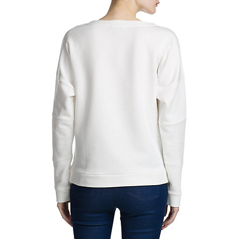 Buy Mango Adventure Sweatshirt, Natural White Online at johnlewis.com