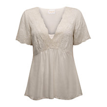Buy East Swirl Embroidered Blouse, Pearl Online at johnlewis.com