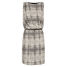 Buy Mango Chiffon Printed Dress, Black Online at johnlewis.com