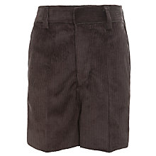 Buy Boys' Cord Shorts, Grey Online at johnlewis.com