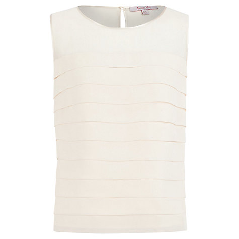 Buy Jacques Vert Pleated Blouse, Cream Online at johnlewis.com