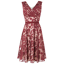 Buy Phase Eight Barbara Burnout Dress, Claret/Cream Online at johnlewis.com