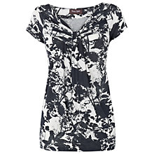 Buy Phase Eight Lyon Print Top, Charcoal/Ivory Online at johnlewis.com