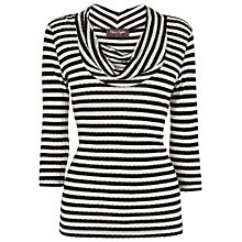 Buy Phase Eight Caitlin Cowl Top, Black/Ivory Online at johnlewis.com