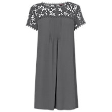 Buy Phase Eight Gretchen Lace Sleeve Tunic Dress, Charcoal Online at johnlewis.com
