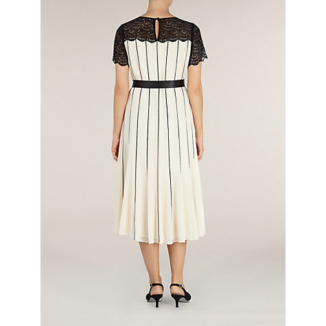 Buy Jacques Vert Chiffon Dress, Cream/Black Online at johnlewis.com
