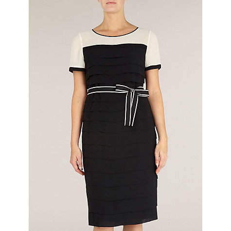 Buy Jacques Vert Pleated Shift Dress, Black Online at johnlewis.com