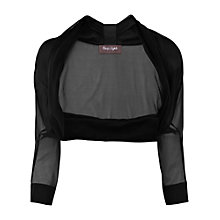 Buy Phase Eight Clara Chiffon Bolero, Black Online at johnlewis.com
