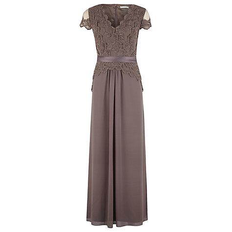 Buy Jacques Vert Maxi Embellished Dress, Brown Online at johnlewis.com