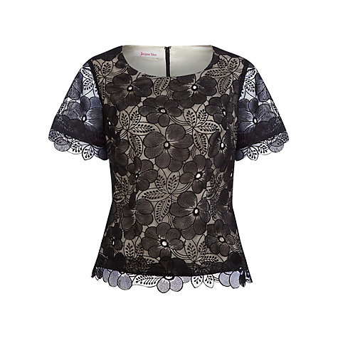Buy Jacques Vert Organza Floral Blouse Online at johnlewis.com