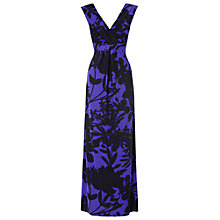 Buy Phase Eight Etienne Maxi Dress, Violet/Black Online at johnlewis.com