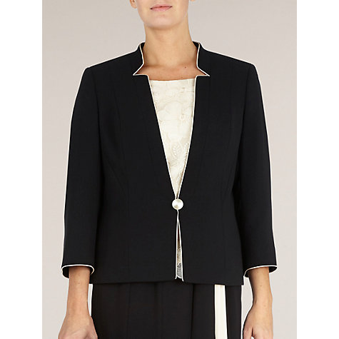 Buy Jacques Vert Contrast Edge Jacket, Black Online at johnlewis.com