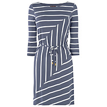 Buy Phase Eight Chevron Cindy Tunic Dress, Charcoal Ivory Online at johnlewis.com