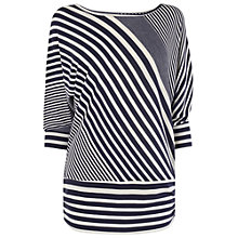 Buy Phase Eight Diagonal Stripe Dana Top, Navy/Ivory Online at johnlewis.com