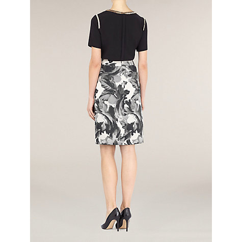 Buy Planet Graphic Floral Skirt, Grey Online at johnlewis.com