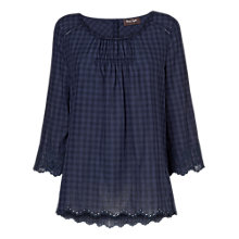 Buy Phase Eight Edie Tunic Top, Navy Online at johnlewis.com