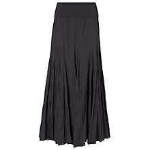 Buy Phase EIght Anoushka Godet Maxi Skirt, Charcoal Online at johnlewis.com