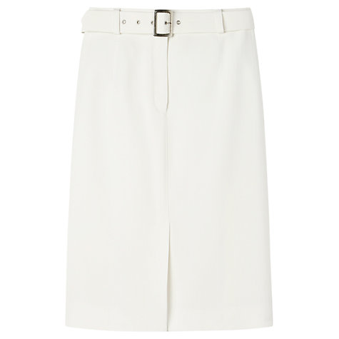 Buy Gérard Darel Straight Skirt, White Online at johnlewis.com