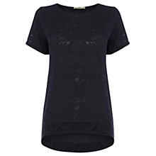 Buy Oasis Paisley Jacquard T-shirt Online at johnlewis.com