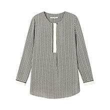Buy Gérard Darel Conny Long Sleeved Printed Blouse, Black Online at johnlewis.com