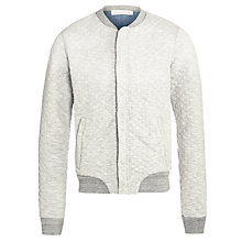Buy Scotch & Soda Home Alone Quilt Bomber Jacket, Grey Melange Online at johnlewis.com