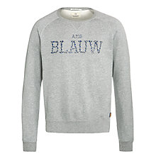 Buy Scotch & Soda Amsterdams Blauw Signature Sweater, Grey Melange Online at johnlewis.com
