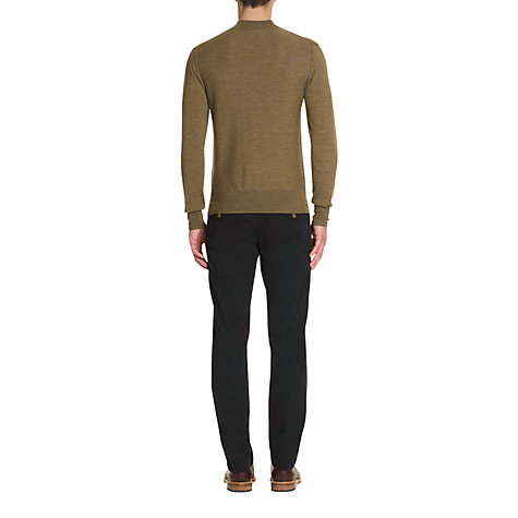 Buy Jigsaw Garment Dyed Cotton Chinos, Washed Black Online at johnlewis.com