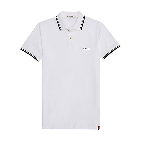 Buy Ben Sherman New Romford Polo Shirt, Bright White Online at johnlewis.com
