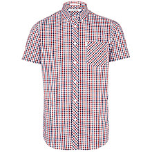 Buy Ben Sherman House Check Short Sleeve Shirt, Blue Depths Online at johnlewis.com