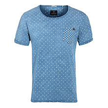 Buy Scotch & Soda Amsterdams Blauw Pocket T-Shirt, Washed Blue Online at johnlewis.com