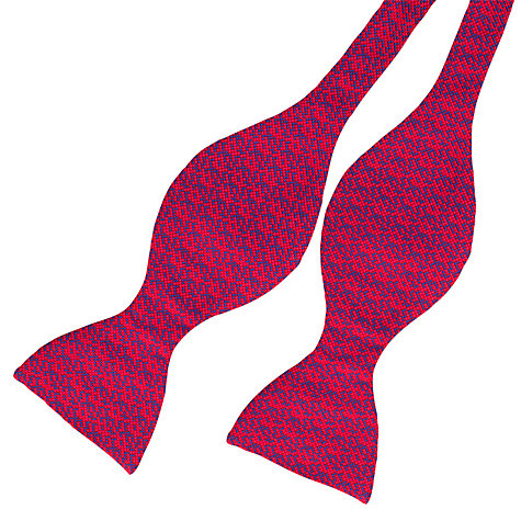 Buy Thomas Pink Carlton Self Tie Bow Tie, Red/Blue Online at johnlewis.com