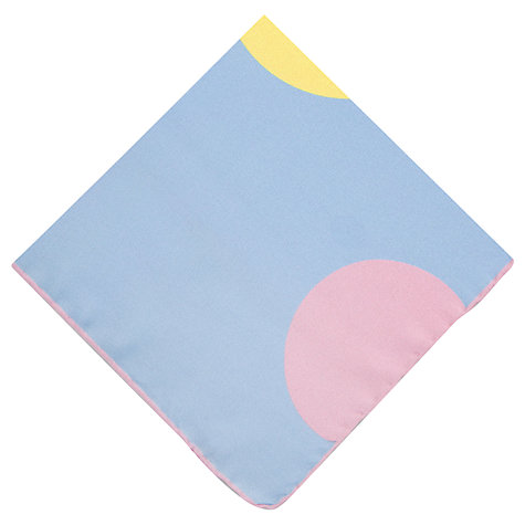 Buy Thomas Pink Multi Spot Pocket Square, Blue Online at johnlewis.com