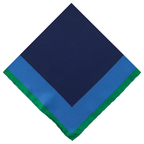 Buy Thomas Pink Multi Square Pocket Square, Blue Online at johnlewis.com