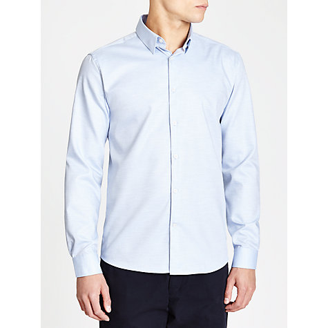 Buy Selected Homme River Melange Shirt, Light Blue Online at johnlewis.com